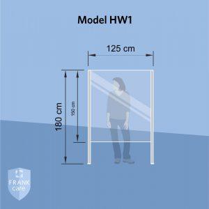 FRANKcare Hygienewand - Stellwand HW1