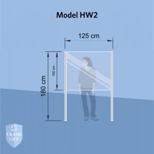 FRANKcare Hygienewand - Stellwand HW2