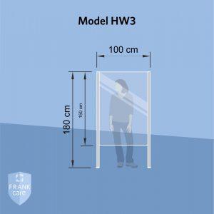 FRANKcare Hygienewand - Stellwand HW3