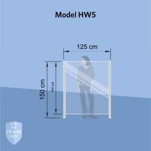 FRANKcare Hygienewand - Stellwand HW5