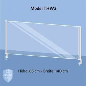FRANKcare Tisch-Hygienewand THW3